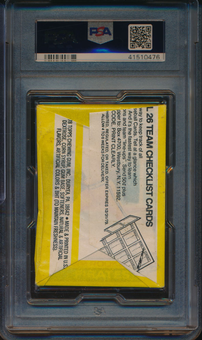 1979 Topps Baseball  Wax Pack  PSA 8 NM-MT 14733