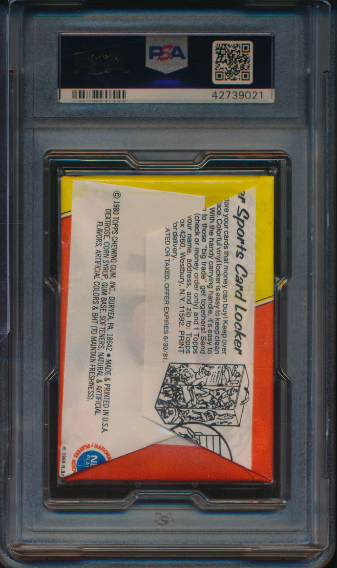 1980-81 Topps Basketball  Wax Pack  PSA 8 NM-MT 14736