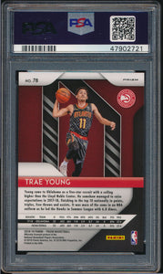 2018-19 Prizm Red White Blue 78 TRAE YOUNG RC PSA 10 GEM MINT 14803