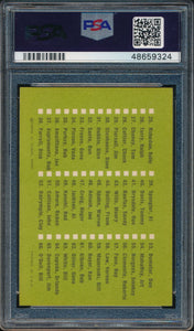 1963 Fleer   Checklist 1-66 SP PSA 5 EX 14861