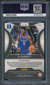 2019-20 Prizm Draft DP 66 RJ Barrett Blue RC PSA 9 MINT 14920