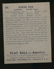 Load image into Gallery viewer, 1939 Play Ball  80 Pete Fox  EX 4038