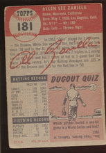 Load image into Gallery viewer, 1953 Topps  181 Al Zarilla  VG 4533