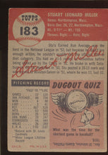 Load image into Gallery viewer, 1953 Topps  183 Stu Miller  G/VG 4535