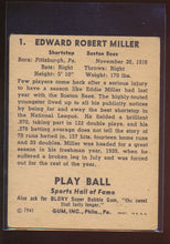 Load image into Gallery viewer, 1941 Play Ball  1 Eddie Miller  VG 4609
