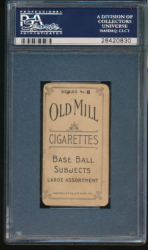 1910 T210-8 Old Mill Series 8  Seitz  PSA 1.5 Fair 6023