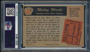 1955 Bowman  202 MICKEY MANTLE  PSA 4 VG-EX DS_102