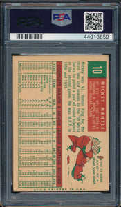1959 Topps  10 MICKEY MANTLE  PSA 4.5 VG-EX+ DS_106