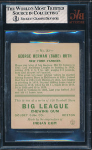 1933 Goudey  53 BABE RUTH  BVG 1.5 FAIR DS_121