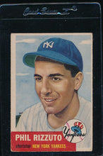 Load image into Gallery viewer, Scan of 1953 Topps 114 Phil Rizzuto VG-EX