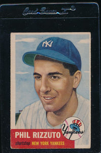 Scan of 1953 Topps 114 Phil Rizzuto VG-EX