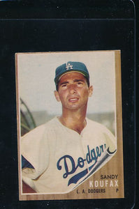 Scan of 1962 Topps 5 Sandy Koufax VG-EX