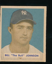 Load image into Gallery viewer, Scan of 1949 Bowman 129 Bill Johnson EX