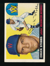 Load image into Gallery viewer, Scan of 1955 Topps 41 Chuck Stobbs EX (MC)