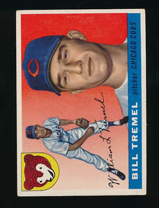 Scan of 1955 Topps 52 Bill Tremel EX