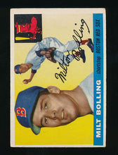 Load image into Gallery viewer, Scan of 1955 Topps 91 Milt Bolling VG-EX