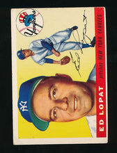 Load image into Gallery viewer, Scan of 1955 Topps 109 Ed Lopat VG