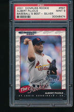 Load image into Gallery viewer, Scan of 2001 Donruss Rookie R97 Albert Pujols PSA 9 MINT