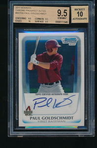 Scan of 2011 Bowman BCP99 Paul Goldschmidt BGS 9.5/10 GEM MINT
