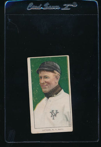 Scan of 1909-1911 T206  Arlie Latham VG