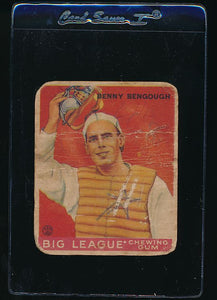 Scan of 1933 Goudey 1 Benny Bengough P (MK)