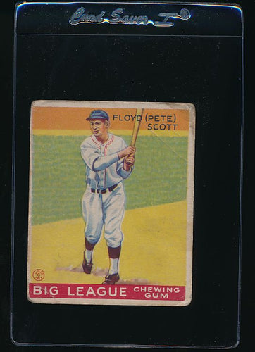 Scan of 1933 Goudey 70 Floyd Pete Scott F