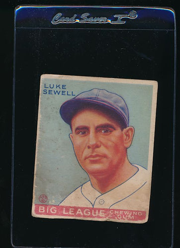 Scan of 1933 Goudey 163 Luke Sewell P