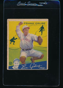 Scan of 1934 Goudey 64 Frank Grube G