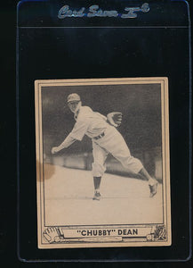 Scan of 1940 Play Ball 193 Chubby Dean RC  VG-EX (ST)