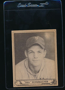 Scan of 1940 Play Ball 85 Hal Schumacher  EX (ST)