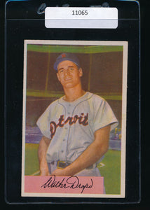 Scan of 1954 Bowman 7  Walt Dropo EX