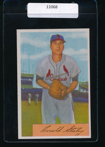 Scan of 1954 Bowman 14  Gerry Staley EX-MT