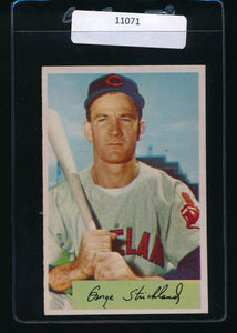 Scan of 1954 Bowman 36  George Strickland EX-MT