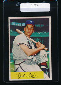 Scan of 1954 Bowman 48  Jack Dittmer VG-EX