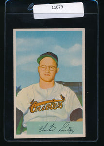 Scan of 1954 Bowman 69  Clint Courtney EX