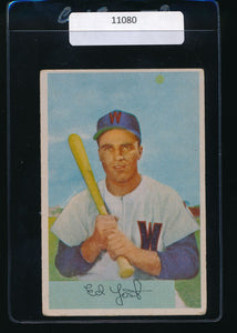 Scan of 1954 Bowman 72  Eddie Yost VG