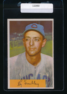 Scan of 1954 Bowman 109  Roy Smalley EX