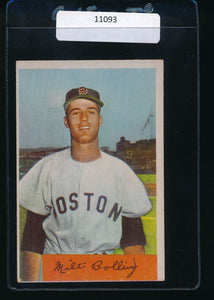Scan of 1954 Bowman 130  Milt Bolling VG