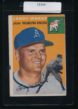 Load image into Gallery viewer, Scan of 1954 Topps 244 Leroy Wheat VG-EX (MK)