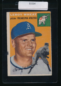 Scan of 1954 Topps 244 Leroy Wheat VG-EX (MK)