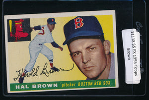 Scan of 1955 Topps 148 Hal Brown EX