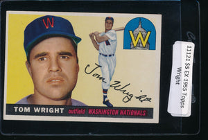 Scan of 1955 Topps 141 Tom Wright EX