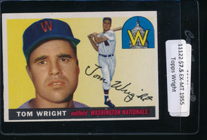 Scan of 1955 Topps 141 Tom Wright EX-MT