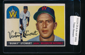 Scan of 1955 Topps 136 Veston Bunky Stewart EX-MT