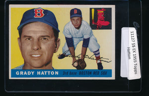 Scan of 1955 Topps 131 Grady Hatton EX