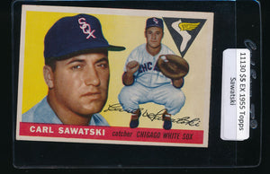 Scan of 1955 Topps 122 Carl Sawatski EX