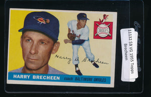 Scan of 1955 Topps 113 Harry Brecheen VG