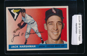 Scan of 1955 Topps 104 Jack Harshman EX