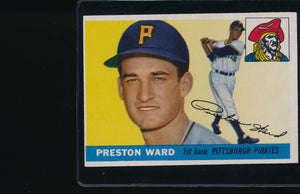 Scan of 1955 Topps 95 Preston Ward EX-MT