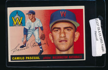 Load image into Gallery viewer, Scan of 1955 Topps 84 Camilo Pascual EX